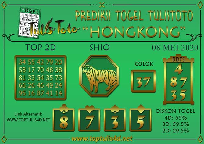 Prediksi Togel HONGKONG TULISTOTO 08 MEI 2020