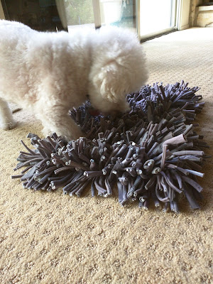 Low-impact foraging dog puzzle toy