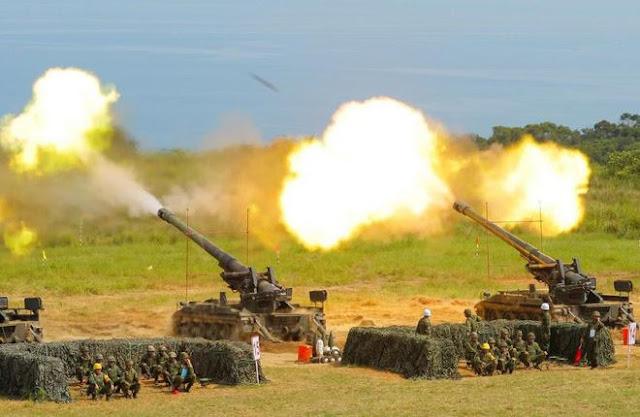 Lực lượng chống đánh chiếm đảo của Đài Loan diễn tập
