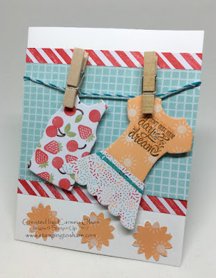 Spring Card with Designer Tee, Window Box Framelits, Stamping to Share