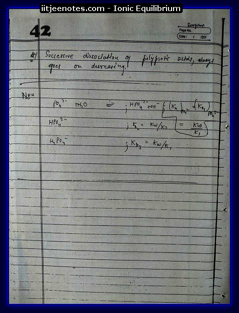 Ionic Equilibrium Notes IITJEE 10