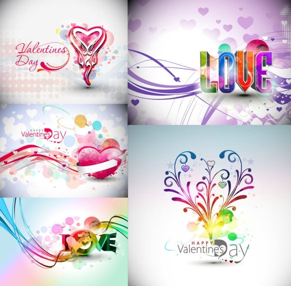 Symphony valentine day decorations Free vector