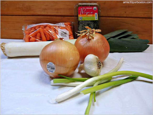 Verduras de la Receta de Perdices en Escabeche