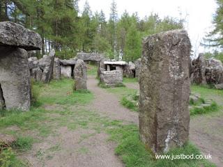 Inside the Druid's Temple, Ilton, Yorkshire