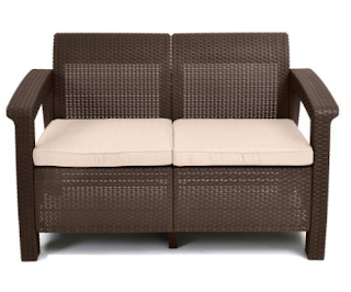Keter Corfu Love Seat All Weather Outdoor Love Seat