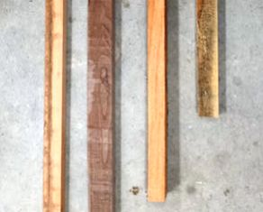 sekrap kayu bekas warna gelap dan terang