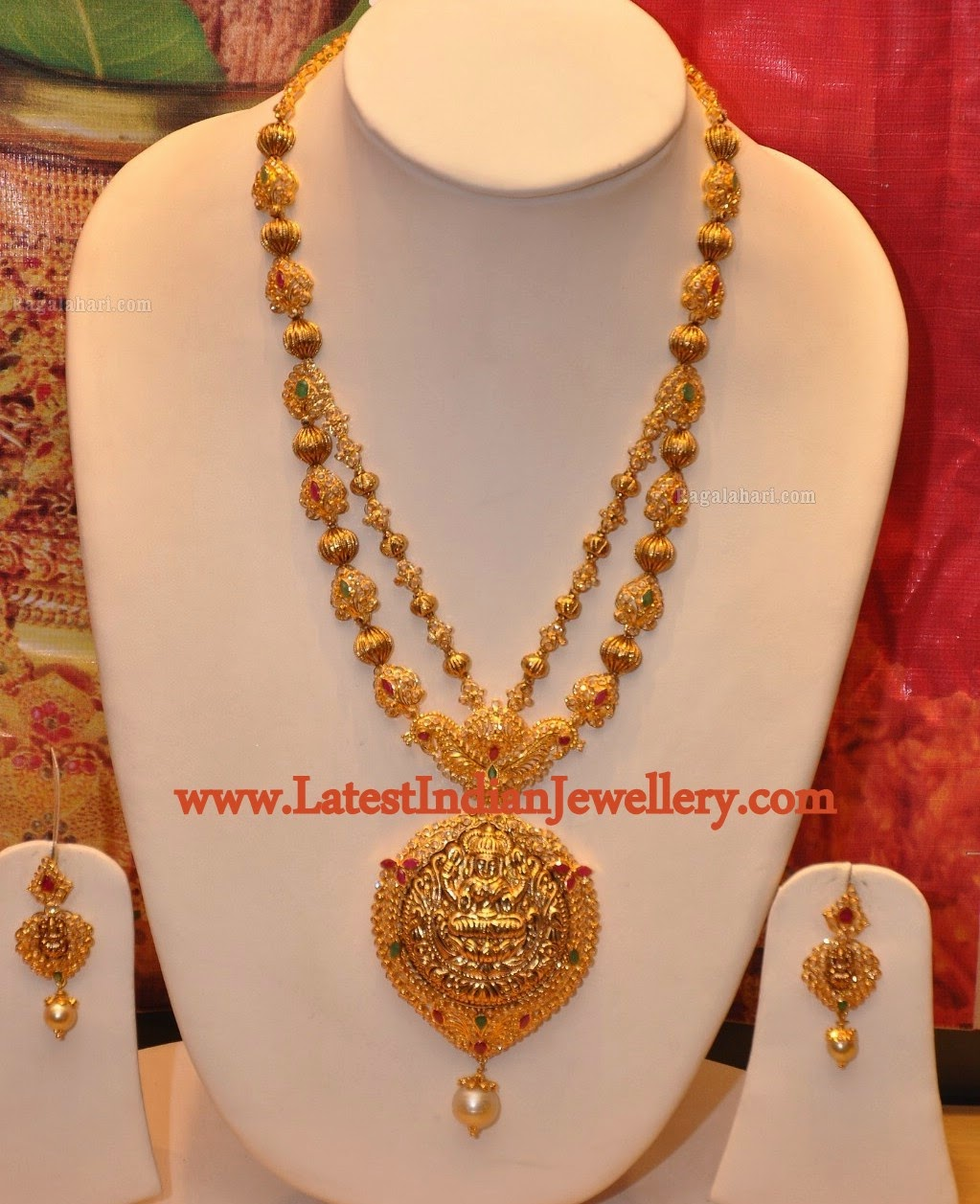Step Model Lakshmi Gold Haram Latest Indian Jewellery