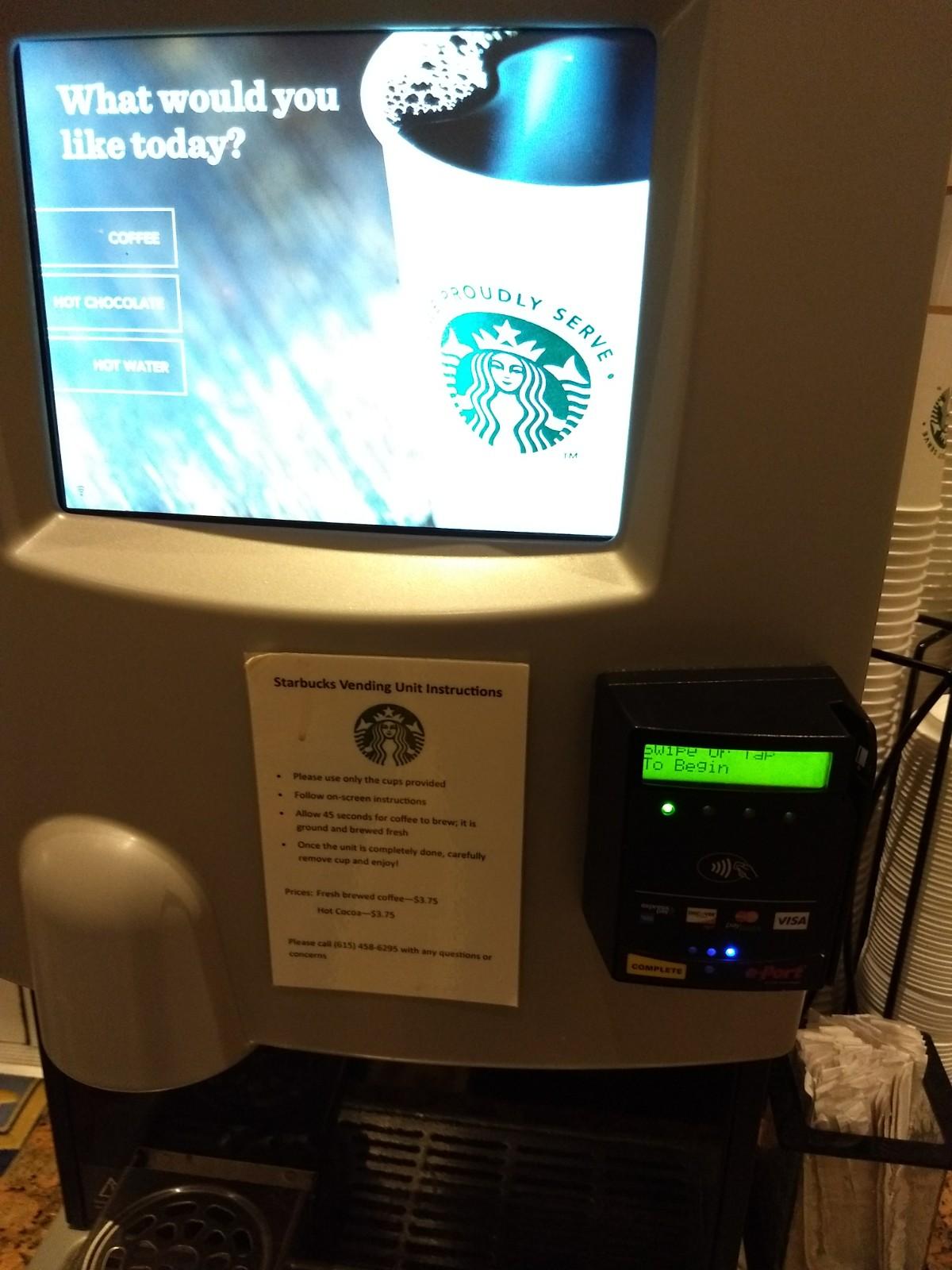 Starbucks Coffee Robot Close Up
