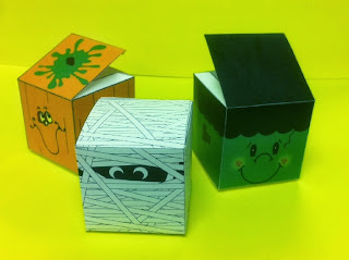Monster Halloween Party Favor Printable Boxes