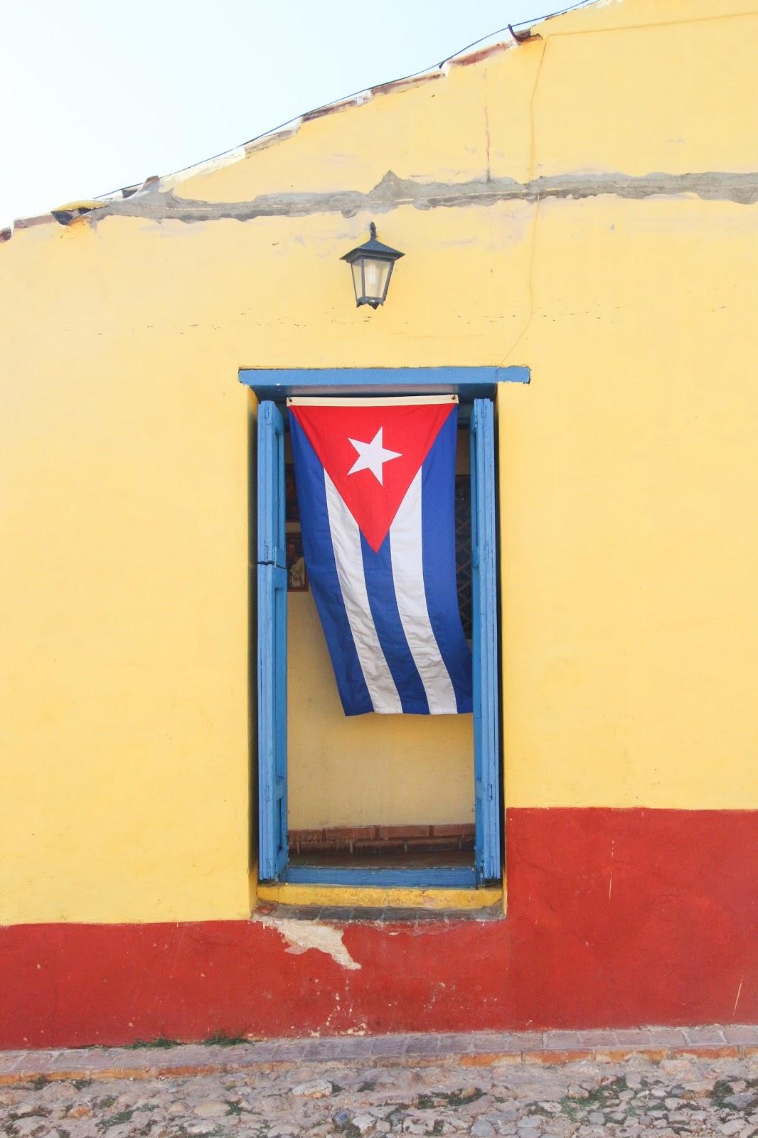 Drapeau Cubain, Trinidad - Cuba