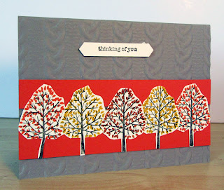 Jana Secord's Fall Card made with StampinUp's  Totally Trees stamp set