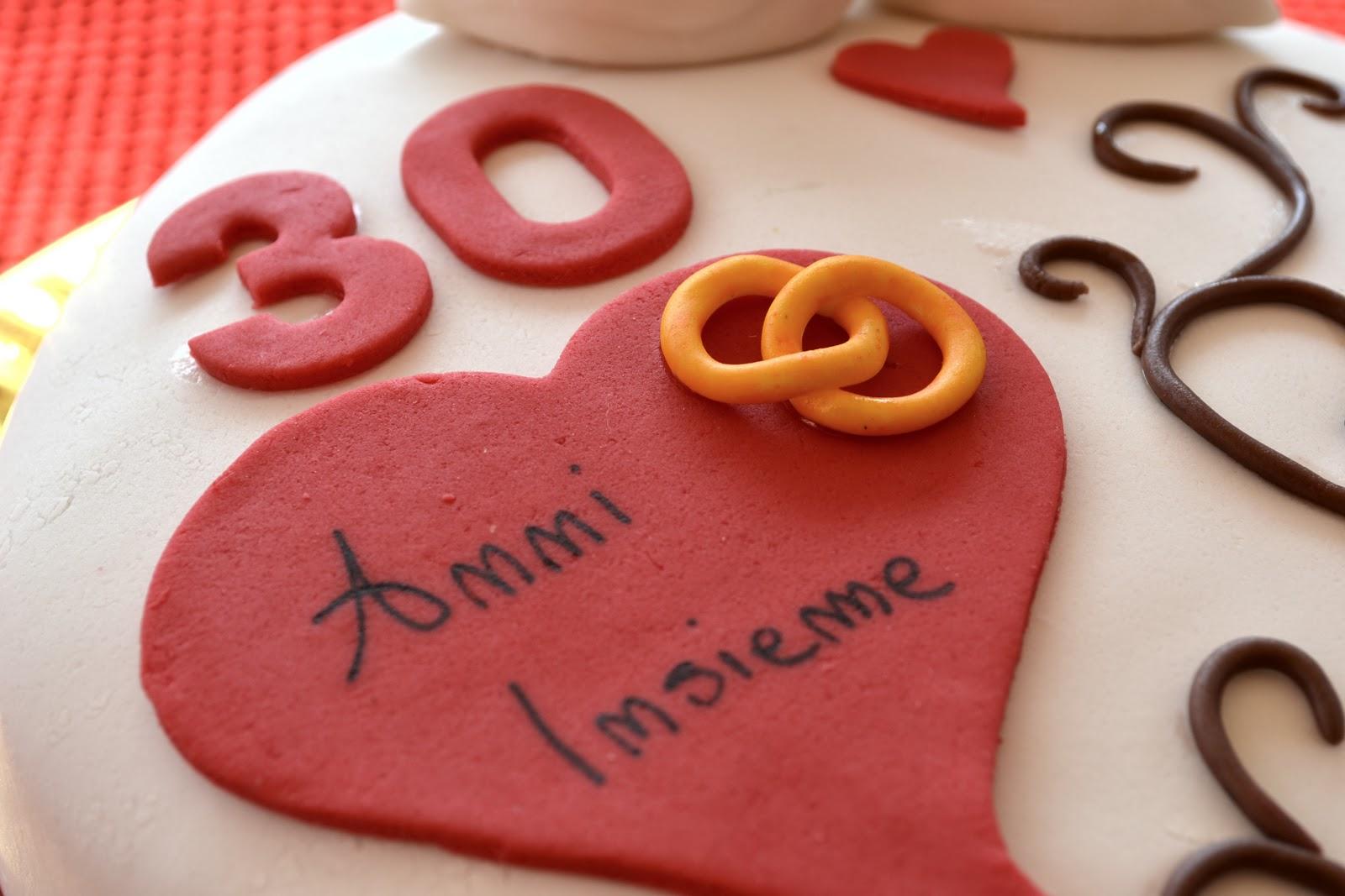 Anniversario Matrimonio 30 Anni.Torta 30 Anniversario Di Matrimonio