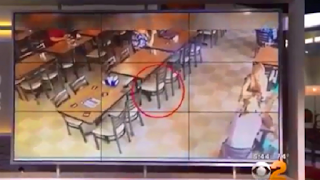 The mystery of an American restaurant moving its seats without being touched by anyone