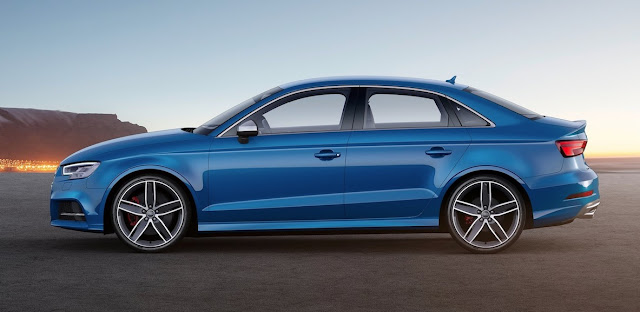 2017 Audi S3 sedan blue