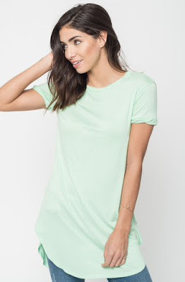 Buy Now Sage Round Neck Tunic Tees Online $16 -@caralase.com