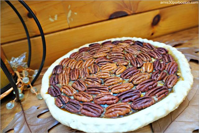 Chocolate Bourbon Pecan Pie sin Cocer