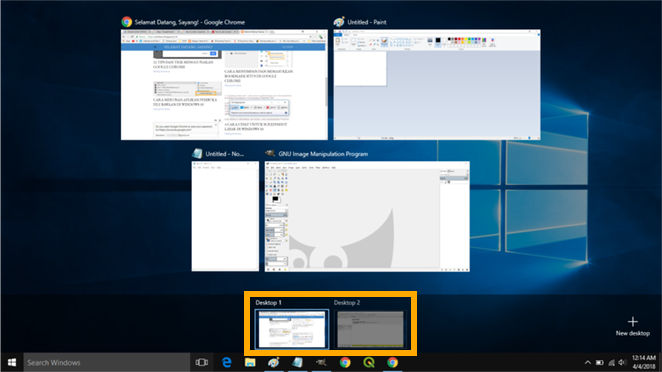 Membuat beberapa tampilan desktop di WIndows 10