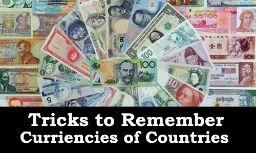 Tricks to Remember Currencies of Countries Kerala PSC