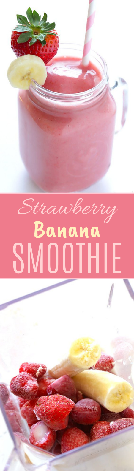 Strawberry Banana Smoothie #healthy #drinks