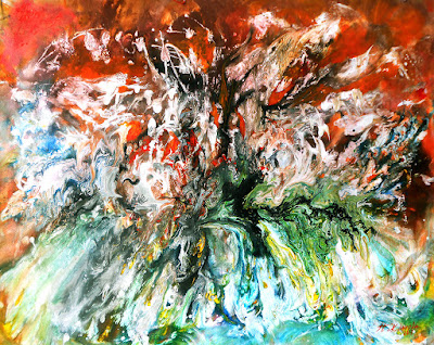 Original abstract landscape painting Summer Heat