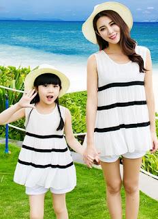 Model baju kembar ibu dan anak terbaru