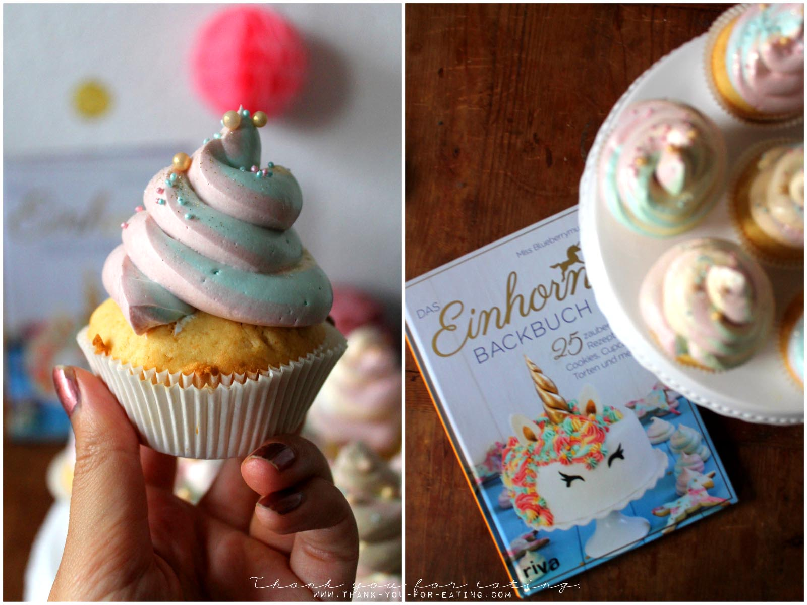 Rezept für Unicorn-Poop-Cupcakes