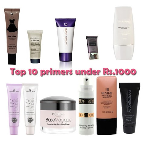 Top 10 Primers Available In India under Rs. 1000