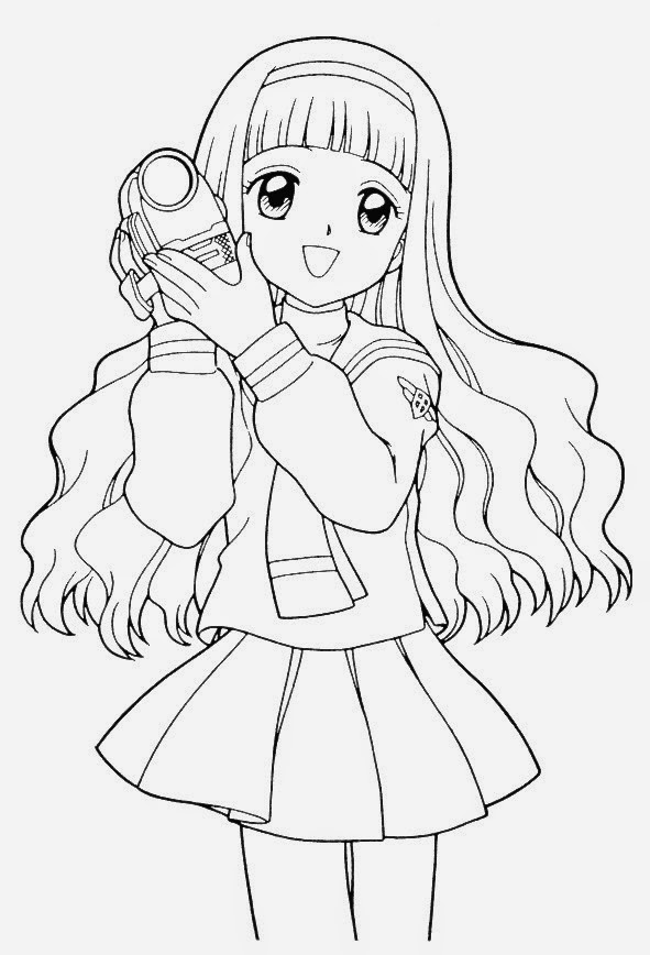anime coloring pages for kids | anime coloring pages online - Free Coloring Pages for Kids