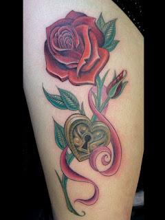 foto tato mawar 3d