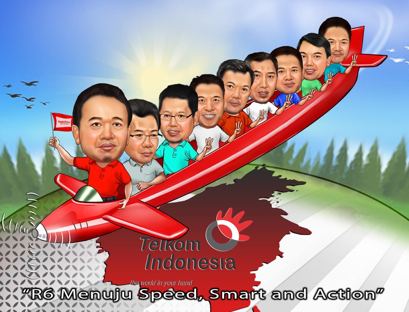 Telkom Indonesia Jasa Pembuatan Karikatur Balikpapan