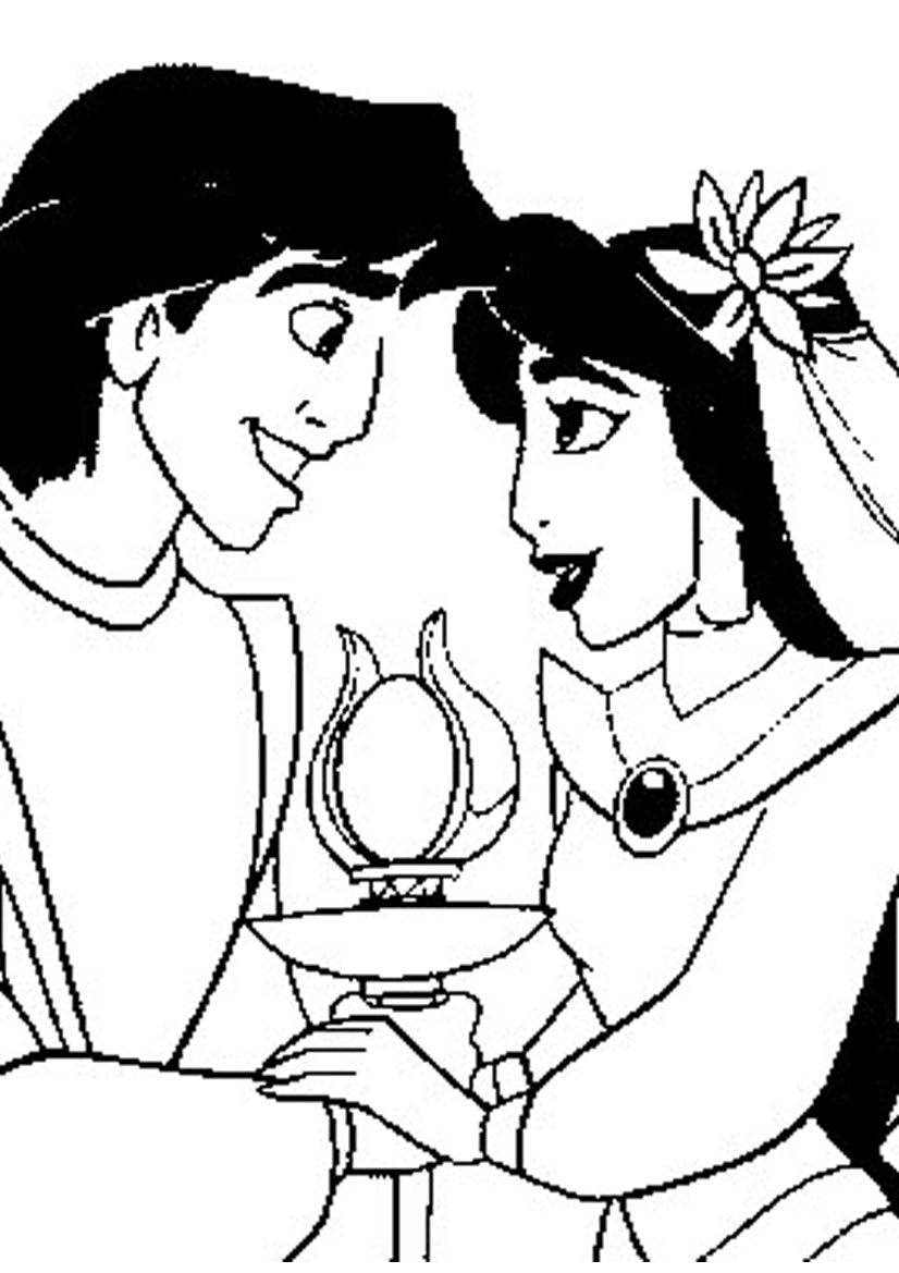 Disney Princess Coloring Pages To Celebrate Valentine's Day