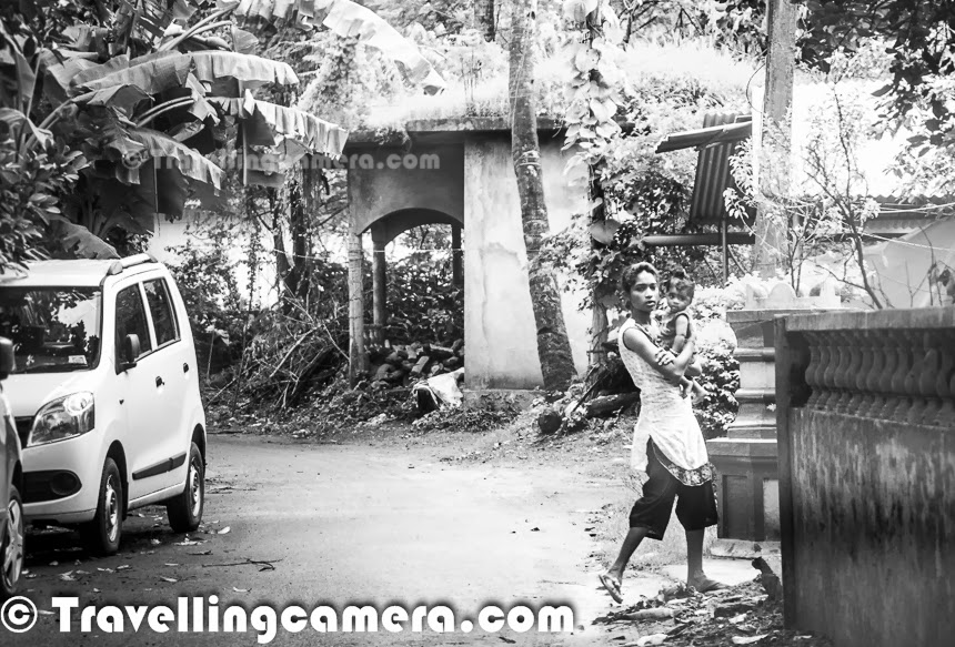 Hiring a bike, car or jeep is one of the most important thing for exploring goa in best way and make best of your trip to this beautiful destination, which is popular for it's beaches. Goa beaches are very well connected through roads and best way to commute is through personal vehicles which can rented for as many days as you want. This Photo Journey shares some information about Car/Bike renting in Goa and some photographs from Goa which were clicked while driving across the city.Before going to Goa, we reached to few of the folks who rent vehicles in Candolim area. Actually we planned to stay around Candolim beach and wanted to rent out a vehicle around this place. One of our friends recommended someone and we confirmed our booking to him over phone. He picked us from the airport in same car and we took charge of the vehicle after that. It's overall very economical to hire a car or a bike instead of hiring a taxi. So essnetially travellers hire a vehicle for a fixed amount per day and then we need to bear the cost of Petrol/Diesel. And you would surprised to know that prices of Petrol are almost same of Diesel in Goa.Moonsoon is not main season is Goa so we got reasonable rates to rent out a Maruti WagonR. We paid 800 rs per day, when we took this car for 4 days, which was pretty reasonable if we calculate the cost of hiring a taxi for pick and drop from Aiport & travelling between the beaches of Goa.Driving on your own in Goa adds more excitement to your vacations. Now you can roam around the places as per your wish and no restrictions on timings. Goa is generally a safe place to wander at any time. Locals understand the importance of security of tourists and privacy. Major economy of Goa is dependent on tourism and hence overall environment is quite favorable for tourists. And Goa is happening during late nights as well.Driving on your own also brings lot of opportunities to explore the least explored parts of Goa. When we were coming back from Aguada Fort, as noticed a beach on our right with lot of coconut trees around it and an array of boats parked on one of the corners. Then we made a plan to visit this visit and have a closer look. It looked like a typical beach we usually see in photographs or television :) . When we drove to this beach, it was a great experience. Only we were there on that beach with all fishermen who stay around this beach. The very first photograph of this photo journey was shot when we were driving towards this beach through lush green paddy fields.Similarly when we went to Old Goa and spent some time around the churches and Magesh temple, we explored some beautiful roads which were not on our way to these places. All these drives exposed us to vegetable farms in countryside and the places where colorful flowers are used to make local wines in Goa. Even smaller waterfalls look awesome during these random drives.Most of the times, when we are in Goa we spend most of the time on beaches, casinos and comparatively lesser driving time. Although, if time allows one should spend more time driving around various parts of Goa as it has lot of things to explore. We had real fun driving in Goa and this made us explore lot more than what we planned. And personally I love exploring things which are least known or not so popular. These less commercialized places always bring a very different experience of holidays.