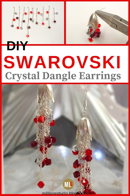 DIY dangle crystal earring project sheet