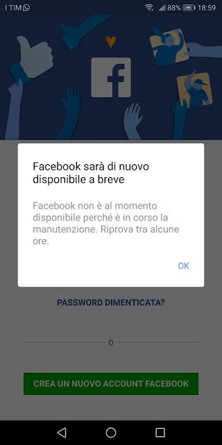 Pronto Polizia, Facebook e Instagram non funzionano