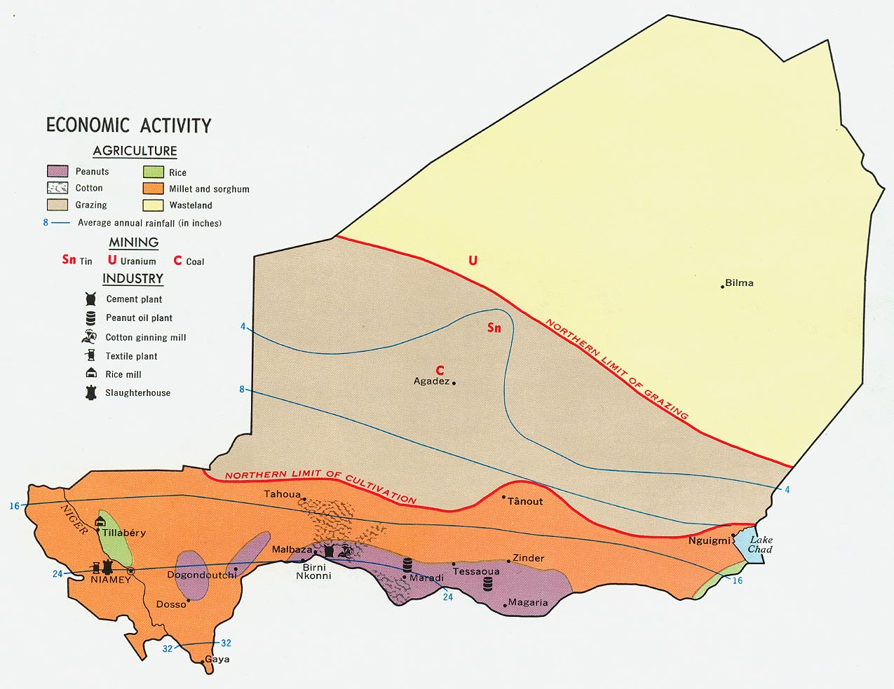Níger | Mapas Geográficos do Níger