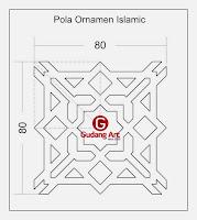 Desain motif pagar masjid
