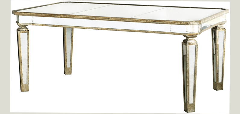 mirrored dining table for dining room best ellecrafts