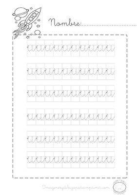 Caligrafia para imprimir vocal u