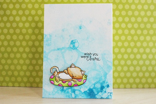Wish You Were Here Card by March Guest Designer Eloise Blue | Newton's Summer Vacation Stamp Set by Newton's Nook Designs #newtonsnook