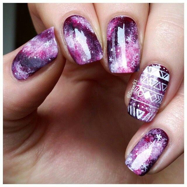 Galaxy nail arts
