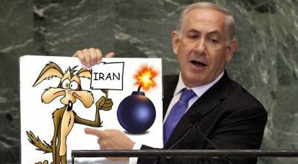 Netanyahu wily coyote un speech