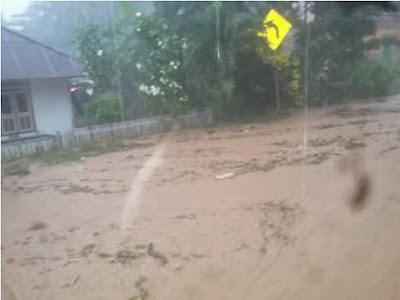 bencana banjir dan longsong sangihe