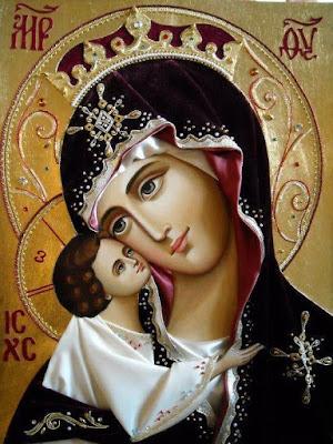 Mãe de Deus Eleousa (ternura) - Ícones para grupo de oração, seminário de vida no Espírito Santo e eventos