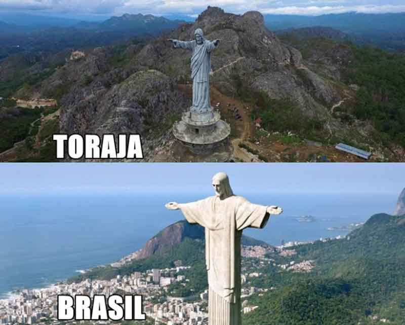 Patung Toraza vs Brazil