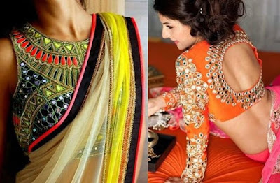 Stylish-blouse-designs-2017-saree-collection-for-wedding-10