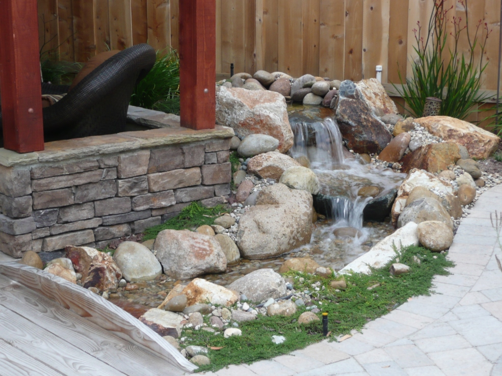 The 2 minute gardener photo small water feature with - Small outdoor water features ...