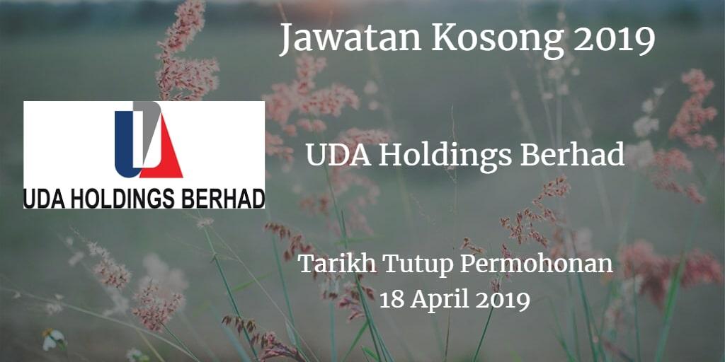 Jawatan Kosong UDA Holdings Berhad 18 April 2019