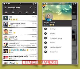 BBM Mod Minimal v05 Base BBM 3.1.0.13 Apk