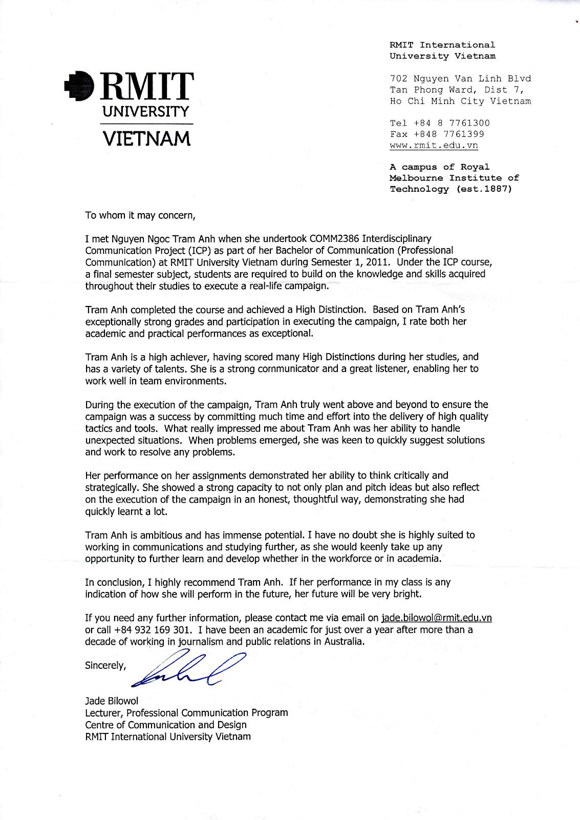 reference letter for lecturer Targer golden dragon