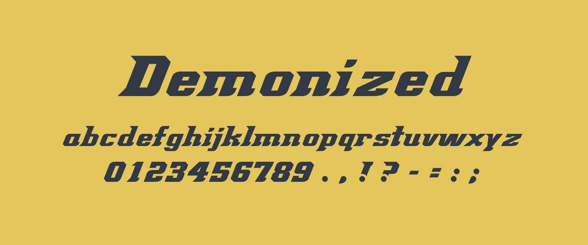 Kumpulan Font Terbaik Untuk Desain Sticker - Demonized